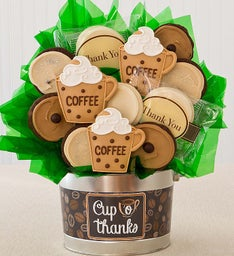 Cup O' Thanks Cookie Flower Pot