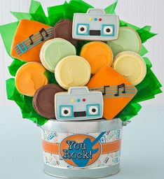 You Rock Cookie Flower Pot