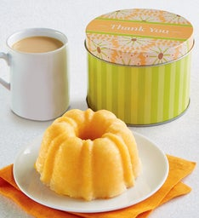 Thank You Mini Lemon Cake and Gift Tin