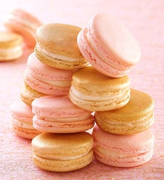 Strawberry & Champagne Macarons