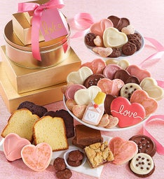 Love & Cookies Elegant Gift Tower