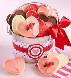 Happy Valentine's Day Buttercream Cookie Pail