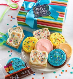 Buttercream Frosted Birthday Cookies & Brownies