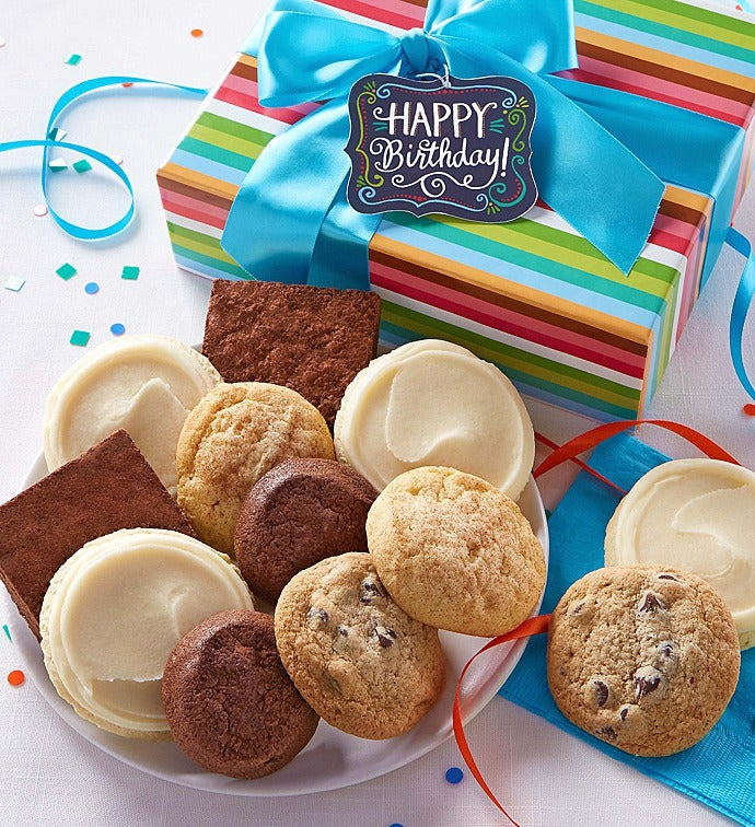 Gluten Free Birthday Cookie Brownie Gift Box