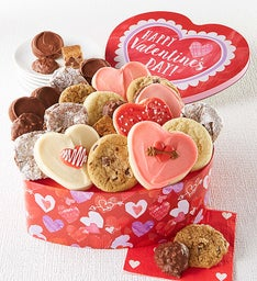 Heart Shaped Valentine Treats Gift Tin
