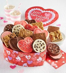 Heart Shaped Cookie and Brownie Tin