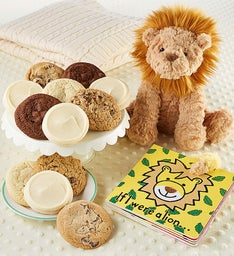 Lion Book and Cookies
