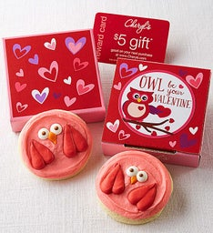 Owl Be Your Valentine Cookie Card