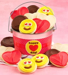Happy Heart Day Valentine Cookie Pail