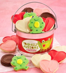 Toad-ally Awesome Valentine Cookie Pail