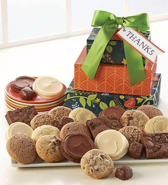 Sugar free thank you gift tower from 1 800 flowers sugar free thank you gift tower negle Image collections
