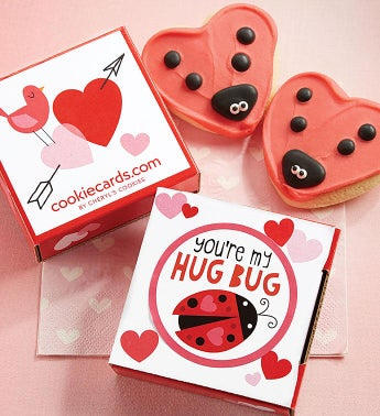 You're My Hug Bug Cookie Card
