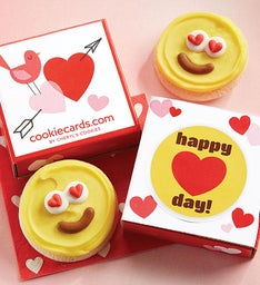 Happy Heart Day Cookie Card