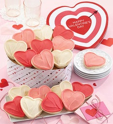 Happy Valentine Gift Tin Buttercream Frosted Cut outs