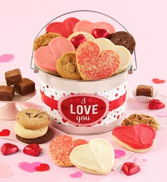 I Love You Valentine Treats Gift Pail