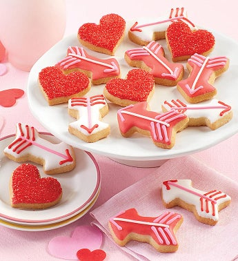 Mini Valentine's Day Crunchy Sugar Cookies