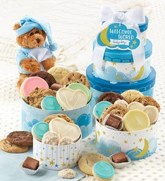 Welcome Baby Boy Gift Tower