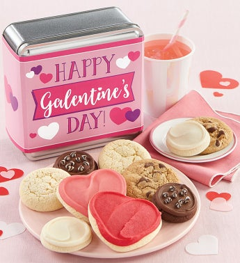 Happy Galentines Day Cookie Tin