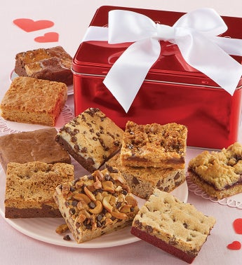 Valentines Day Brownie Sampler Gift Tin