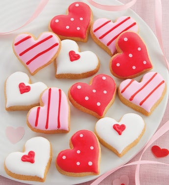 Mini Valentines Day Crunchy Sugar Cookies