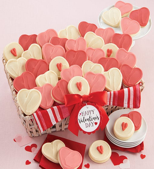 Buttercream Frosted Cutout Cookie Gift Basket Grand