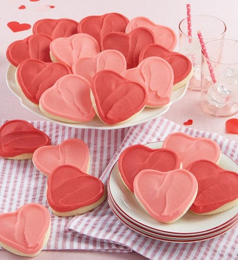 Buttercream Frosted Valentine Cutout Cookies