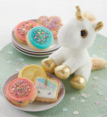Unicorn Plush and Cookies