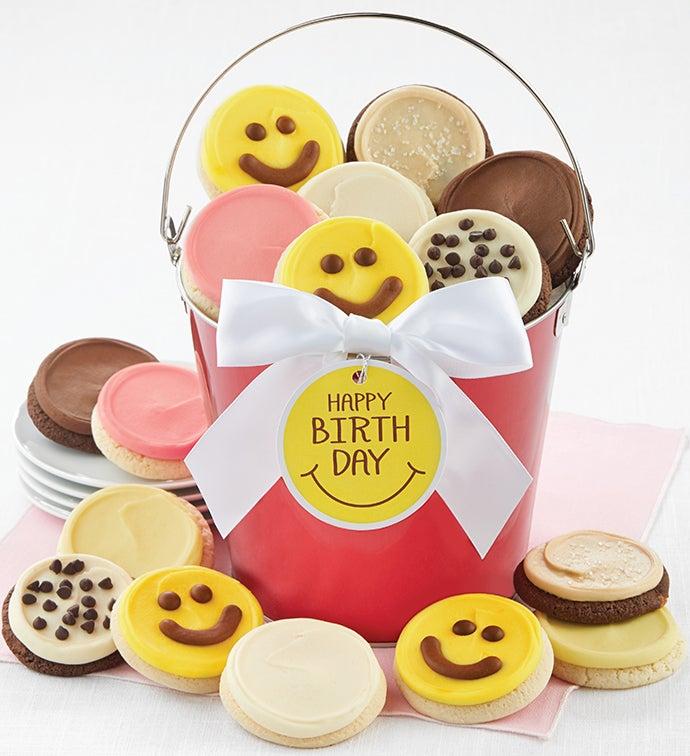 Happy Birthday Smile Cookie Pail