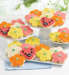 Buttercream Frosted Spring CutOut Cookies