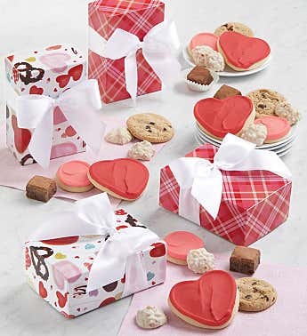 Valentine Treats Gift Box - Set of 4
