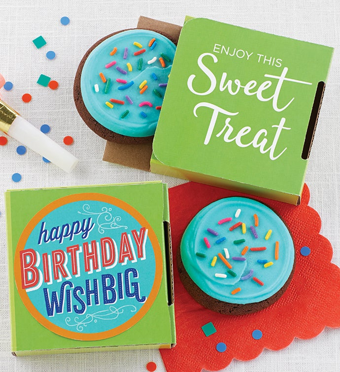 Wish Big Birthday Cookie Card
