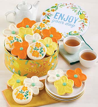 Enjoy Your Day Gift Tin Buttercream Frosted Cut-Outs