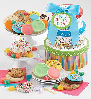 Happy Birthday Party Gift Tower