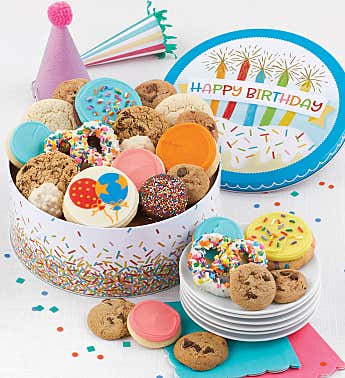 Musical Birthday Gift Tin Treats Assortment