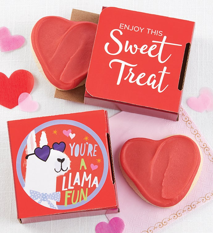 You're a Llama Fun Valentine's Day Cookie Card