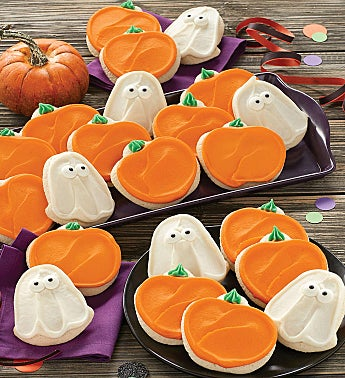 Buttercream Frosted Ghost and Pumpkin Cut-Outs