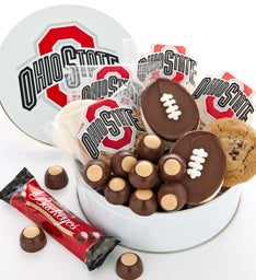 Ohio State Gift Tin - Cookies and Buckeyes