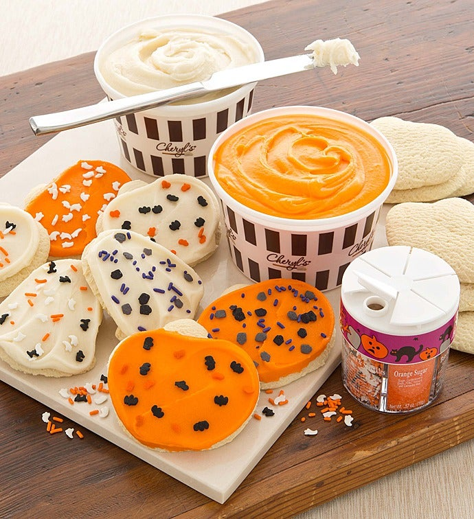 halloween cutout cookie decorating kit