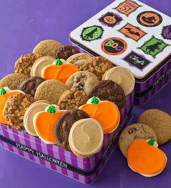 Grand Halloween Tin - 24 Cookies Create Your Own