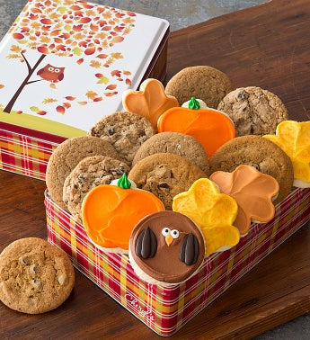 Autumn Tin - 16 Assorted Cookies