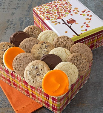 Autumn Gift Tin - 16 Sugar Free Cookies