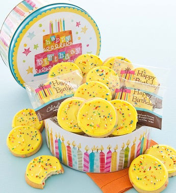 Musical Birthday Tin - 16 Birthday Cookies