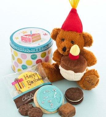 Birthday Bear with Treats