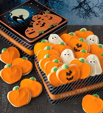 Grand Halloween Gift Tin - Cutout Cookies