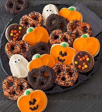 Halloween Pretzels and Cookies
