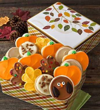 Autumn Treats Gift Tin - Frosted Assortment