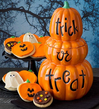 Collector's Edition Triple Jack O' Lantern Cookie Jar