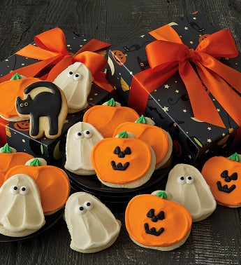 Halloween Gift Boxes - Buttercream Frosted Cut-outs