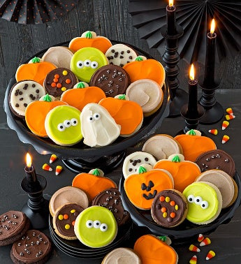Buttercream Frosted Halloween Cookies