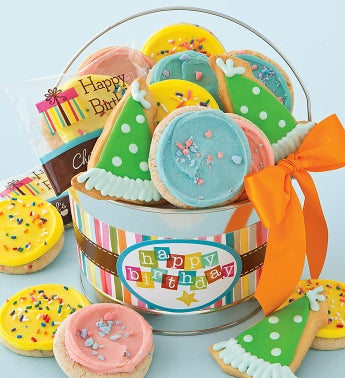 Birthday Frosted Cookie Pail